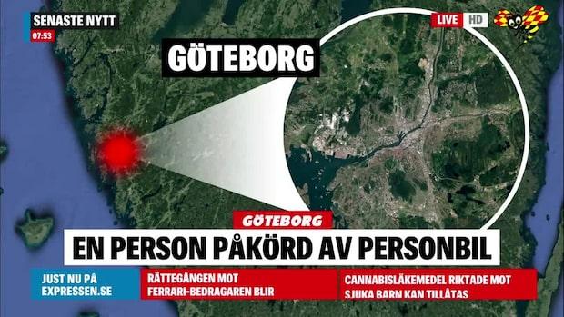 Person påkörd i Göteborg – fördes till sjukhus