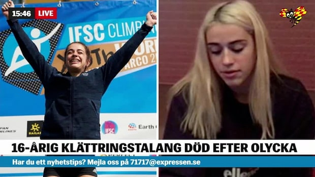16-årigt OS-löfte föll 150 meter och dog