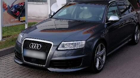 Pierre Daniels sportbil, en Audi RS6, var vad de maskerade rånarna var ute efter när de stormade in på verkstaden. Foto: Privat