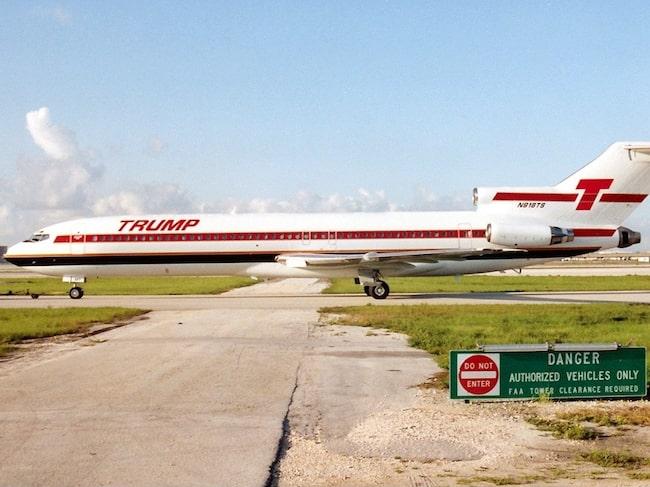 Trump Shuttle flög över USA med 21 äldre plan av modellen Boeing 727.