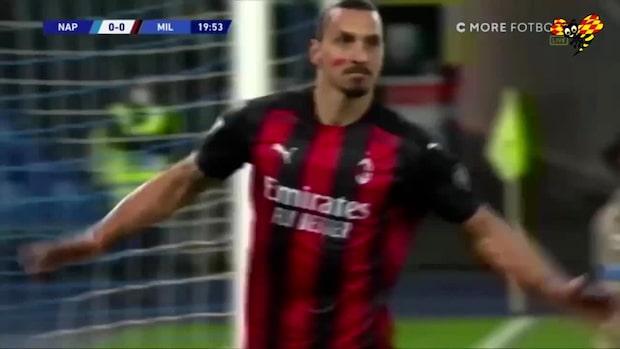 Se Zlatans båda mål mot Napoli