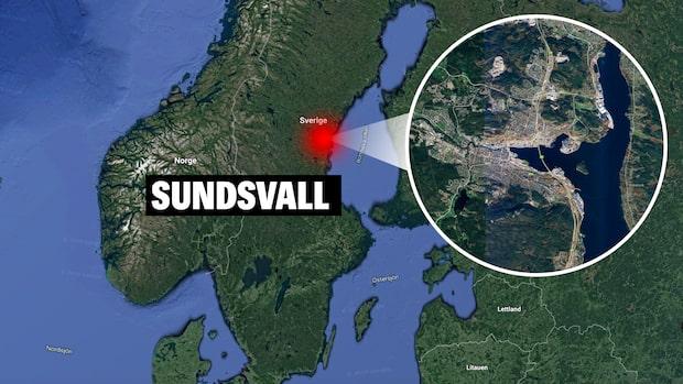 En skadad efter skottlossning i Sundsvall