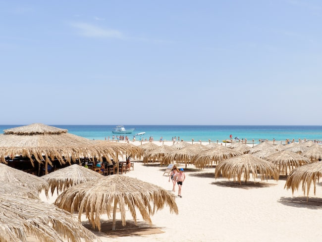 Giftun Island i Hurghada, Egypten, har vykortsvackra stränder.