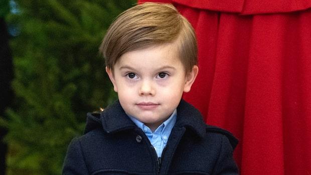 Prins Oscars glädje efter gåvan på slottet