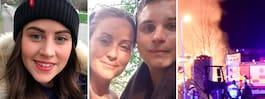 Systrarna räddade brinnande man från våldsam eldsvåda