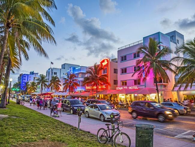 Kryssningen avgår från Miami i Florida. Besök populära Ocean Drive vid South Beach före avresan.