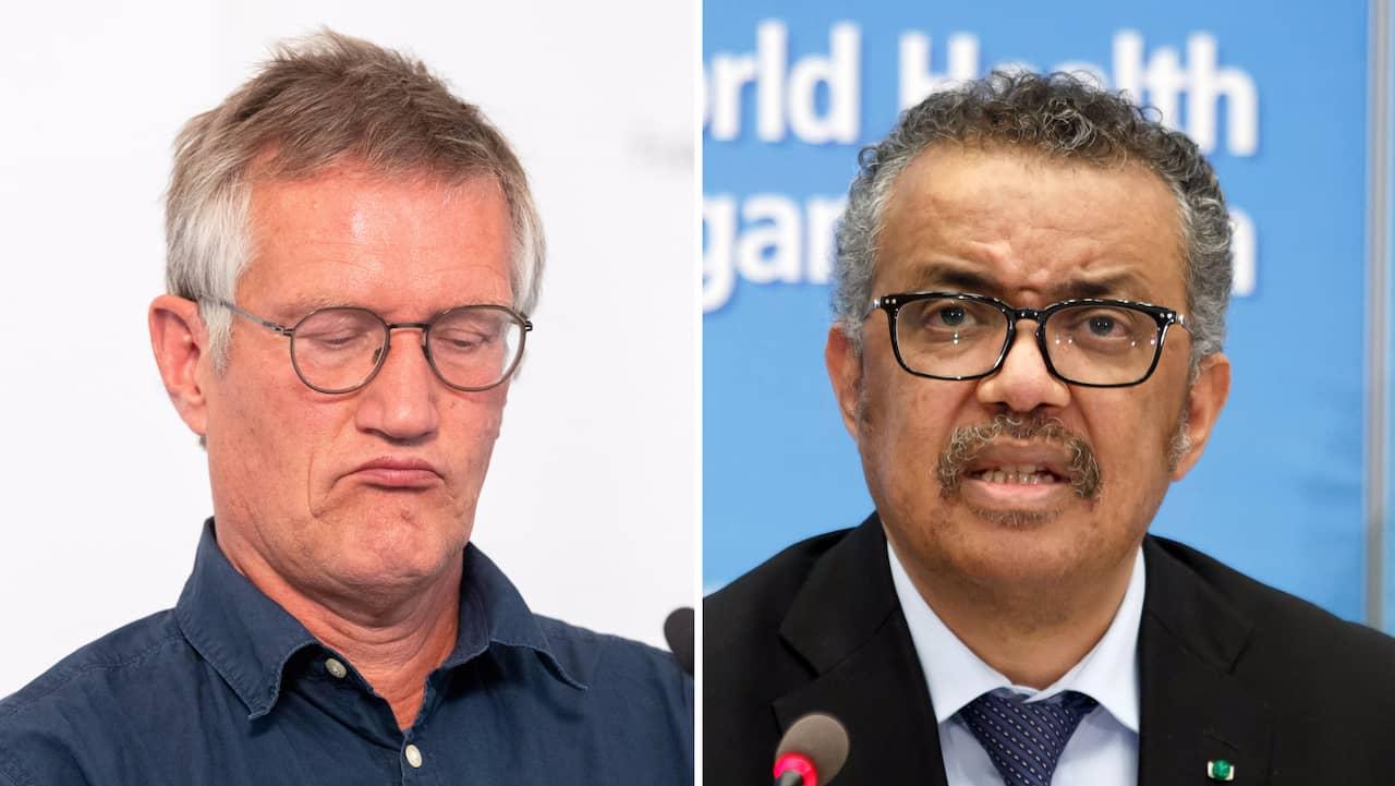 """Anders Tegnell trotsar WHO om munskydd: """"Inte rätt väg"""""""