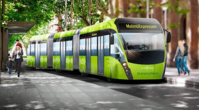 """MalmöExpressen tar mer passagerare och har """"gräddfil"""" på vissa sträckor genom stan. Avgångar var femte minut i rusningstrafik."""