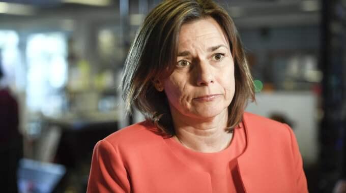 Isabella Lövin (MP) var svagast i debatten enligt K-G Bergström. Foto: Maja Suslin/Tt / TT NYHETSBYRÅN