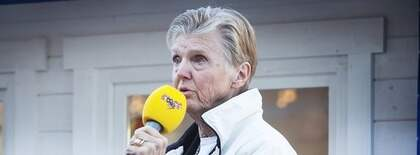 Barbro Westerholm (FP) i Expressens valstuga. Foto: Maria Hansson