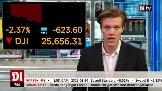 Di Morgonkoll – Inverterade räntekurvan drar ner världens börser
