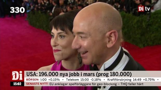 Dagens siffra: Dyrbar skilsmässa för Bezos