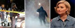 MORGONENS NYHETER: Fem döda i skottlossning, SMHI orkanvarnar, Busch Thor om makens sjukdom