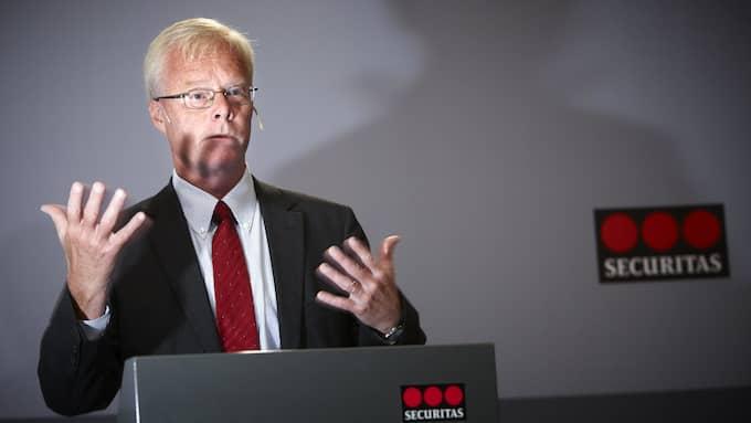Alf Göransson på Securitas vill själv inte kommentera identitetsstölden eller den falska konkursansökan. Foto: FREDRIK PERSSON/TT NYHETSBYRÅN