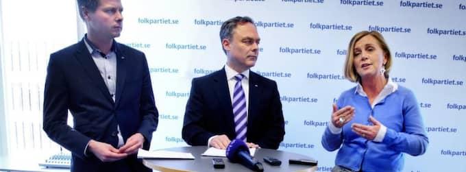 Christer Nylander, till vänster, presenterar det nya förslaget på DN Debatt i dag. Foto: Jens L'Estrade