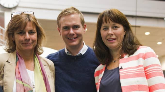 Isabella Lövin, Gustav Fridolin och Åsa Romson. Foto: Sara Strandlund