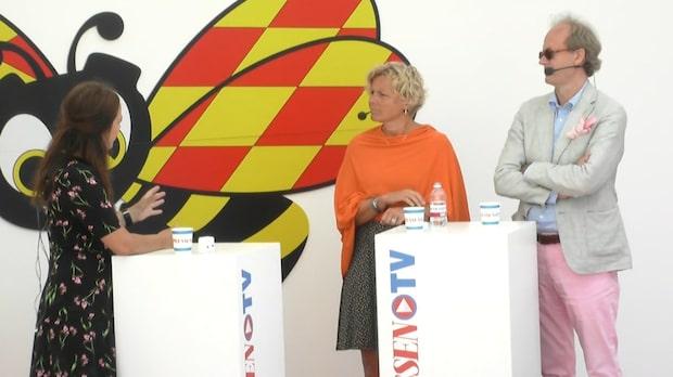Johan Hakelius i debatt med Anna Serner