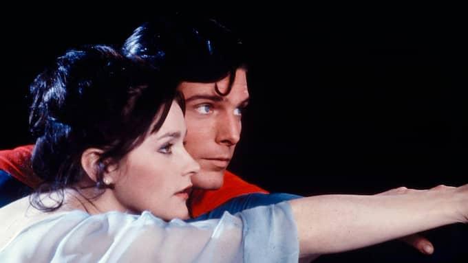 Christopher Reeve och Margot Kidder. Foto: PA PHOTOS / PA PHOTOS TT NYHETSBYRÅN