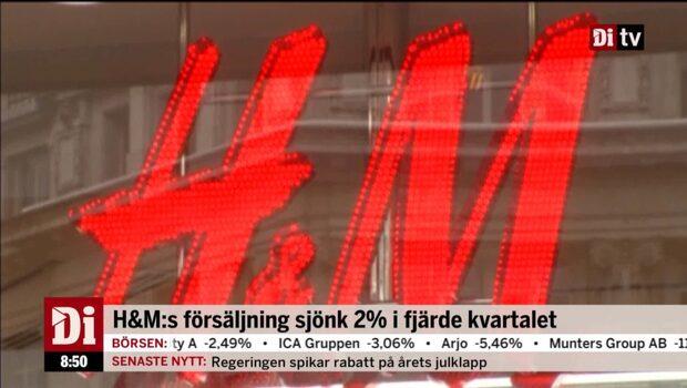 """Hägerstrand om H&M:""""Det är osäkert framöver"""""""
