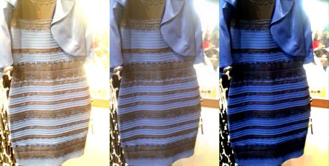 blå och vit klänning