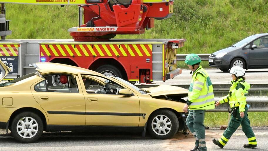 Det är vid trafikplats Jägersro i Malmö som en bil