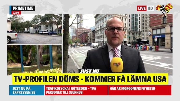 Tv-profilen döms – kommer få lämna USA