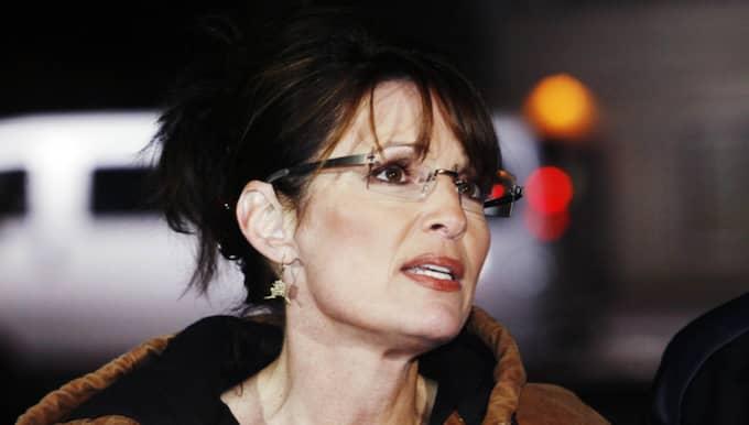 Sarah Palin var schemalagd för att tala på ett evenemang för att stötta Trump, men när maken skadade sig bestämde hon sig direkt för att återvända norrut till Alaska. Foto: Cornelia Nordström