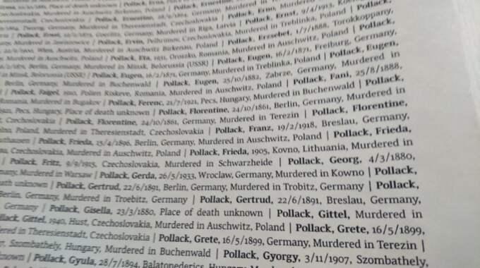 I en av böckerna, som samlade namnen på fångarna, fanns namnet på en av Isacs släktingar. Foto: Privat / LÄSARBILD