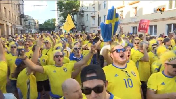 Hör svenskarna sjunga nationalsågen inför U21-matchen