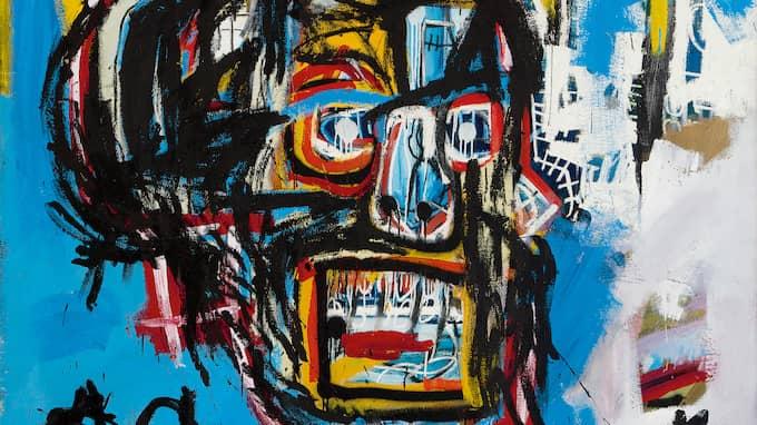 Basquiats obetitlade verk från 1982 klubbades för nästan en miljard kronor. Foto: SOTHEBY'S / POLARIS