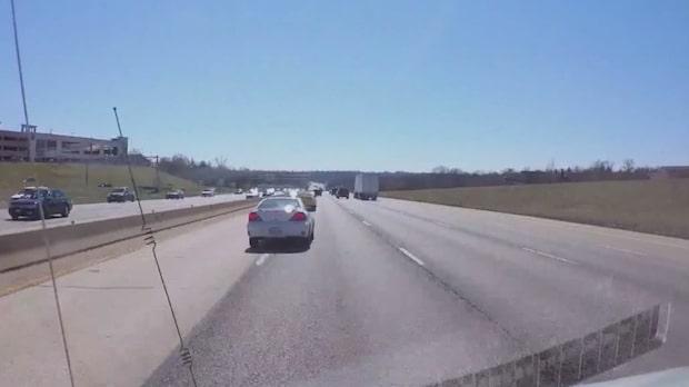 'Road rage' på motorvägen ledde till våldsam krasch