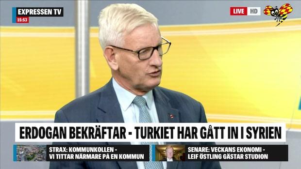 """Carl Bildt: """"Den här typen av kaotisk politik är farlig"""""""