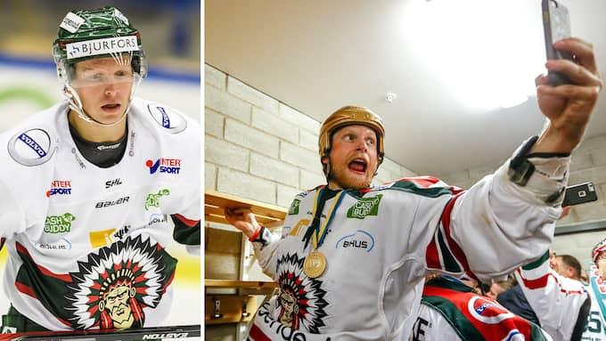 Ryan Lasch efter finalsegern mot Skellefteå våren 2016. Foto: BILDBYRÅN