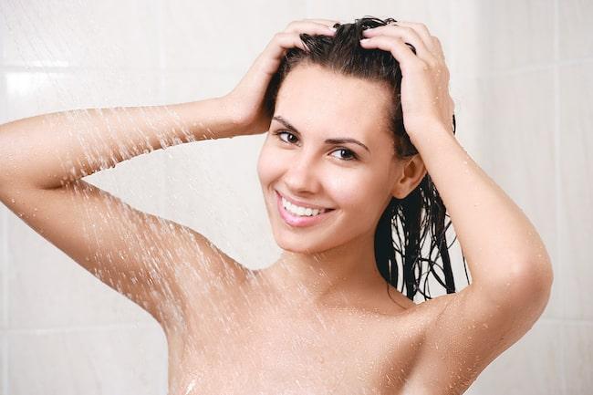 filtret hår efter bad