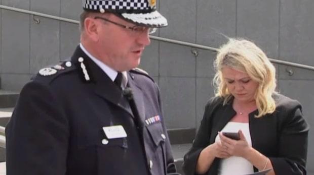 Polisen höll pressmöte i Manchester
