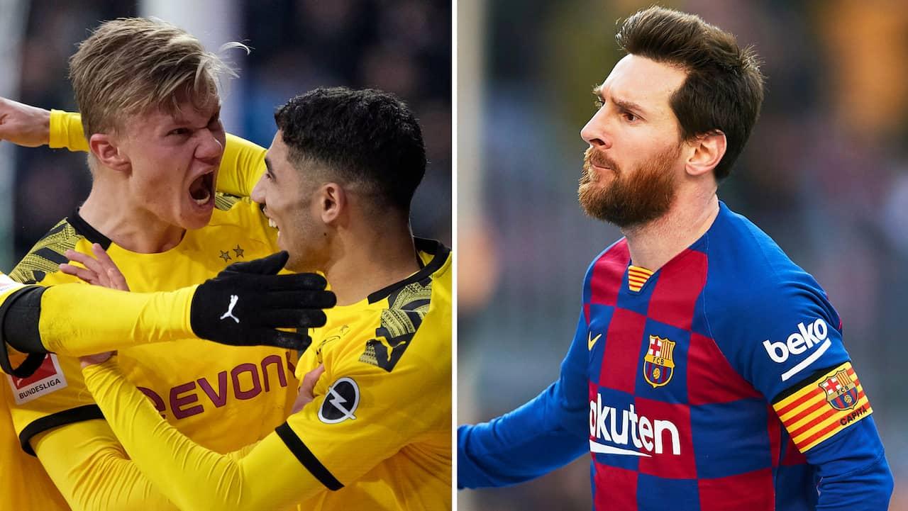 Messi med hattrick – men ändå slagen av Haaland