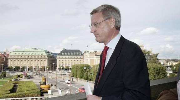 Carl Bildt, medlem i ubåtsskyddskommissionen, från 1983. Foto: Mikael Sjöberg