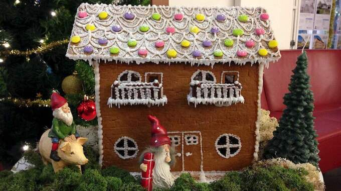 Även i Skövde finns en julig villa – priset går i det här fallet till Sällskapet Jultomtarna som bedriver ideell hjälpverksamhet för barn. Foto: Länsförsäkringar fastighetsförmedling