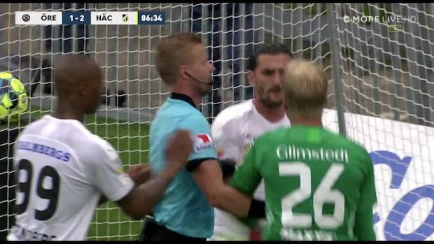Bråkiga scener när Örebro reducerade till 2-1