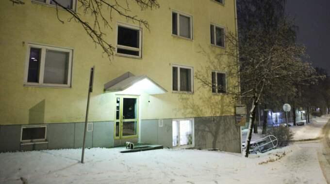 Här, i en lägenhet i Helsingfors greps Juha Valjakkala när han hade rymt 2007. Foto: Christian Örnberg