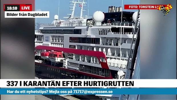 Corona på Hurtigruten: 377 personer i karantän