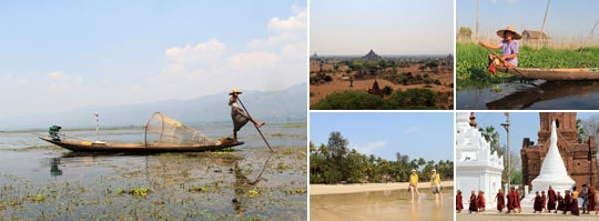 Stillsamt och oförstrört bortom de politiska stridigheterna i Burma.
