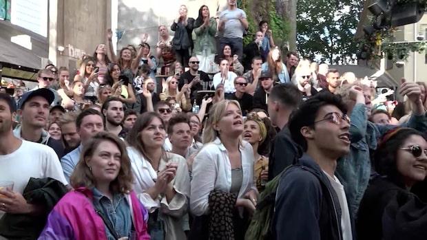 Här exploderar Trädgården i jubel – när Sverige tar brons