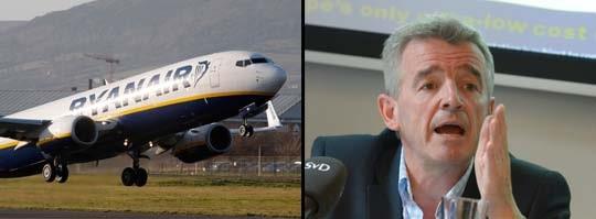 Ryanair och vd Michael O'Leary.