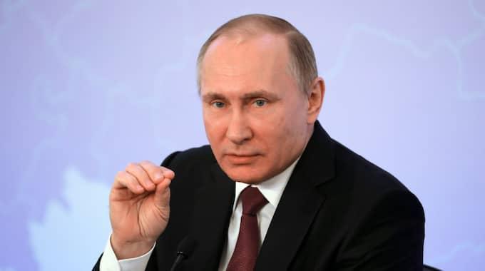 Vladimir Putin. Foto: Michael Klimentyev / Sputnik / Kremlin / EPA TT NYHETSBYRÅN