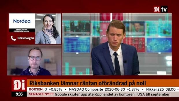 Riksbanken lämnar räntan oförändrad, börjar köpa företagsobligationer