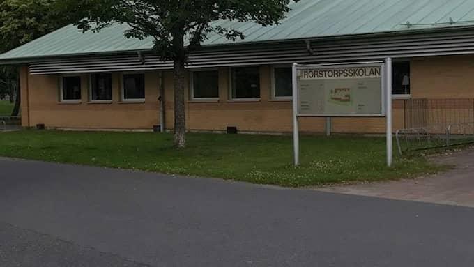 Utanför Rörstorpsskolan sköts 22-åringen. Foto: LÄSARBILD / LÄSARBILD