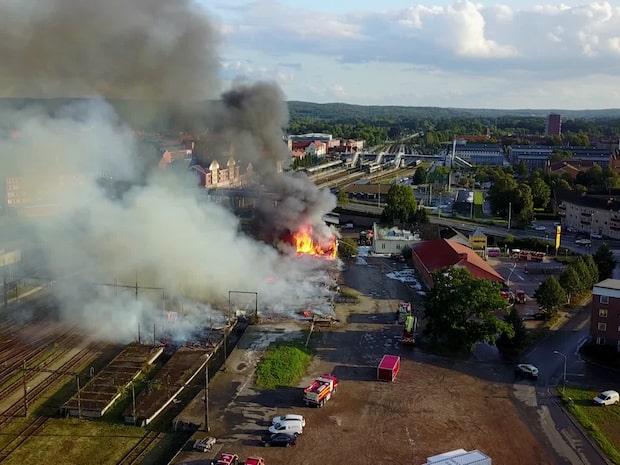 Branden i Hässleholm misstänks anlagd