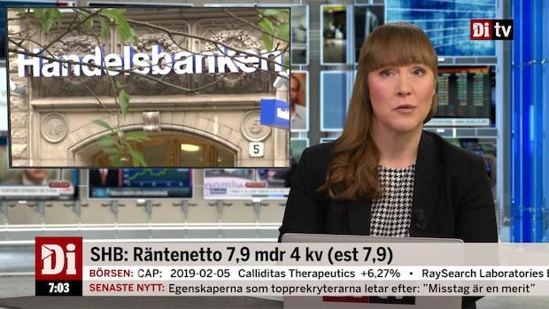 Morgonkoll: Handelsbanken föreslår utdelning långt under förväntan