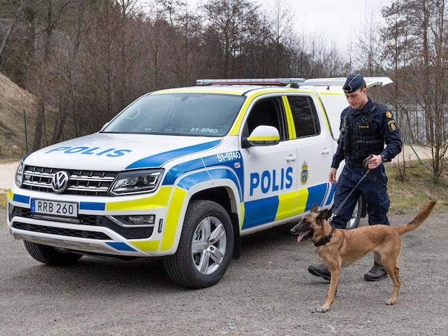 Polisens nya hundbil visade upp i Göteborg i fredags.